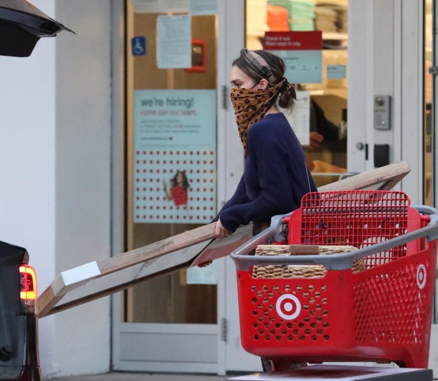 Джессика Альба на шоппинге jessica alba,шоппинг