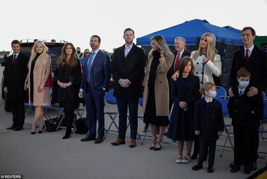 Дети Трампа на церемонии прощания donald trump,melania trump,ivanka trump