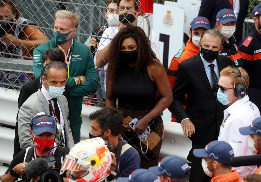 Серена Уильямс на Формуле - 1 erena williams