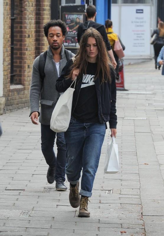 Кира Найтли в Лондоне