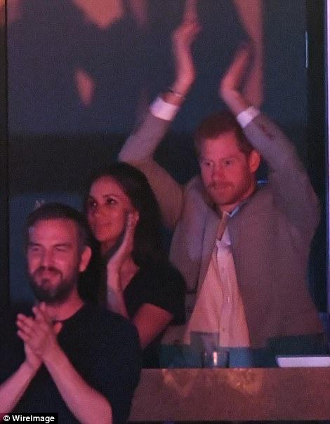 Принц Гарри и Меган Маркл на закрытии Invictus Games