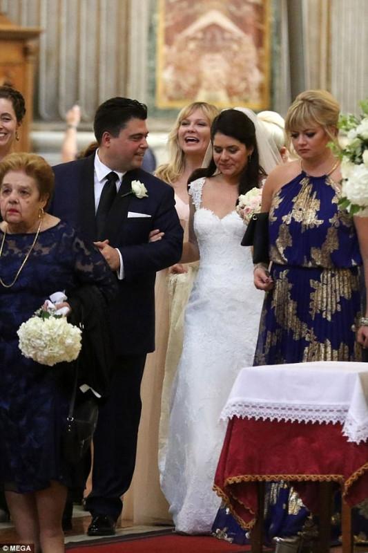 Кирстен Данст на свадьбе в Италии