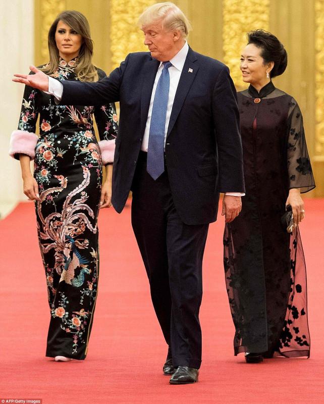 Дональд и Мелания Трамп в  Пекине