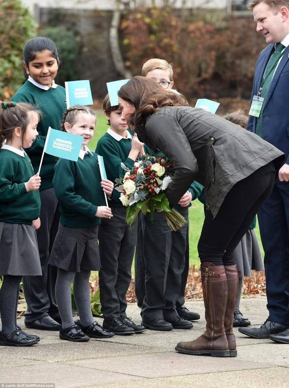 Кейт Миддлтон посетила школу