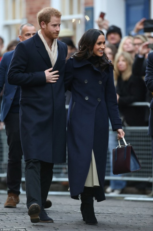 Первый официальный выход принца Гарри и Меган Маркл