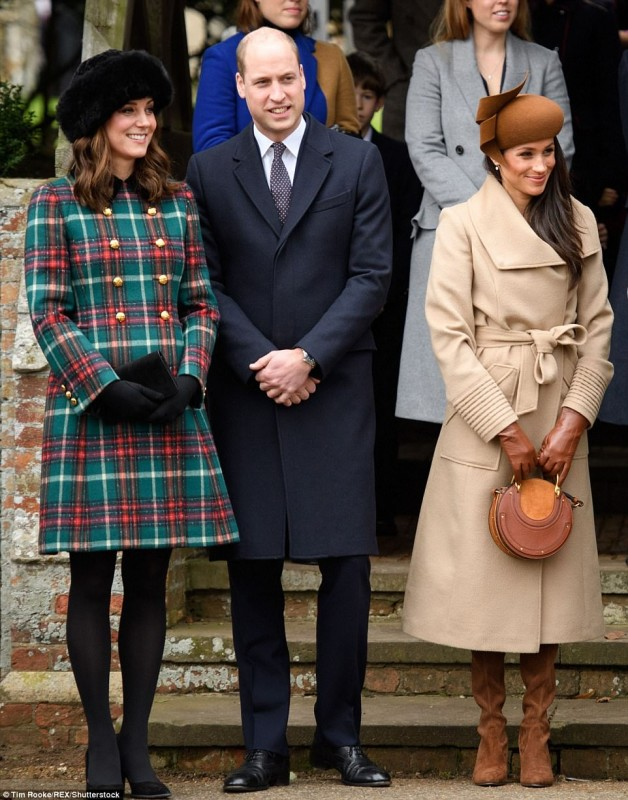 Royal family on christmas service