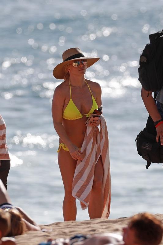 Бритни Спирс на пляже Бритни, Спирс, среду, время, отдыха, Гавайях