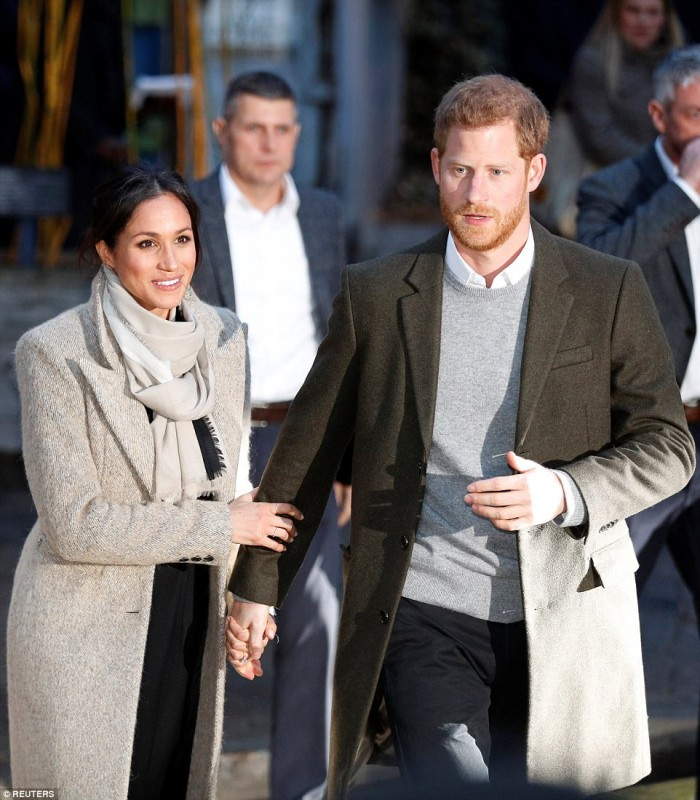 Prince Harry and Megan Markle in Brixton