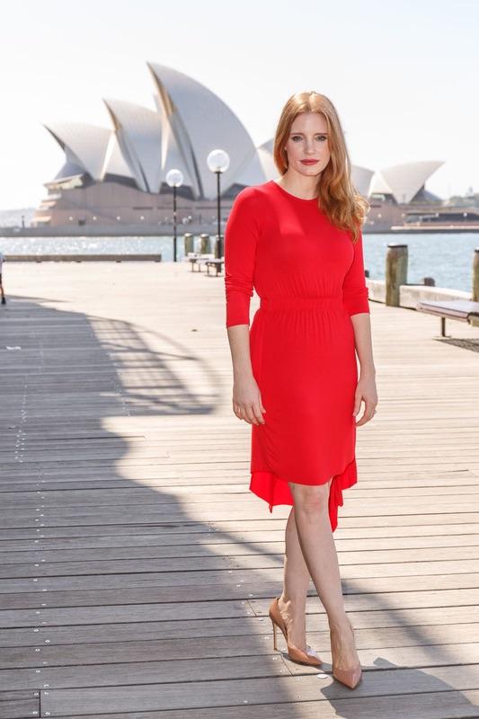 Джессика Честейн на фотоколе в Сиднее