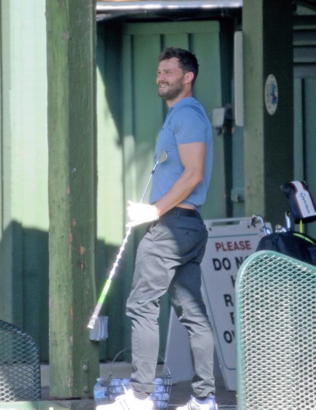 Будни Джейми Дорнана в ЛА Джейми, Дорнан, понедельник, поиграл, гольф, ЛосАнджелесе