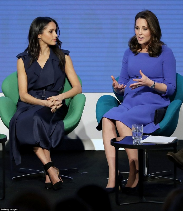 Megan Markle and Kate Middleton at the Royal Foundation Forum