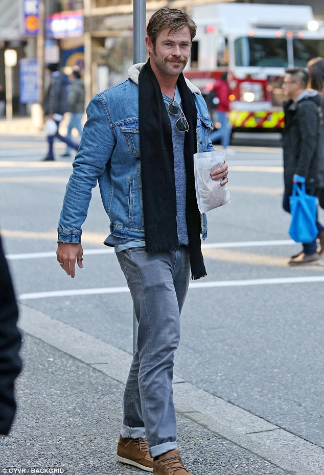 Крис Хемсворт в Ванкувере