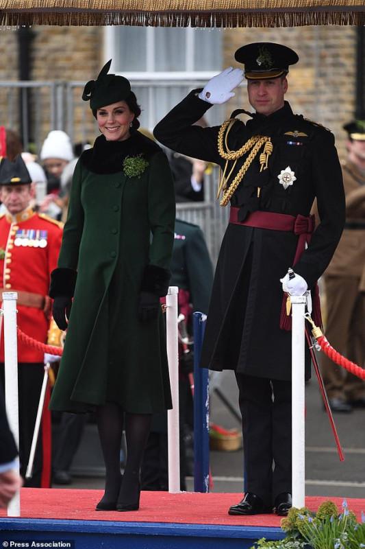 Королевская пара посетила парад в честь Дня святого Патрика