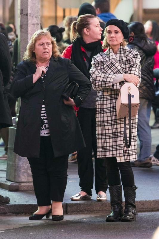 Дайан Крюгерс мамой в Нью-Йорке