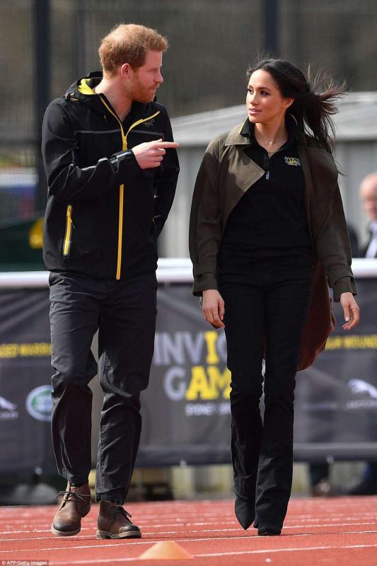Меган Маркл и принц Гарри на отборочных соревнованиях Invictus Games