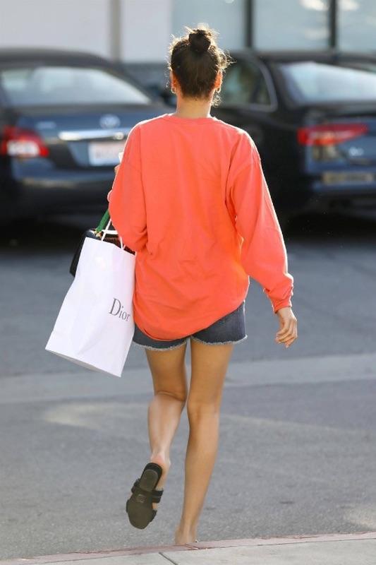 Шанина Шейк в ЛА Шанина, среду, улицах, ЛосАнджелеса
