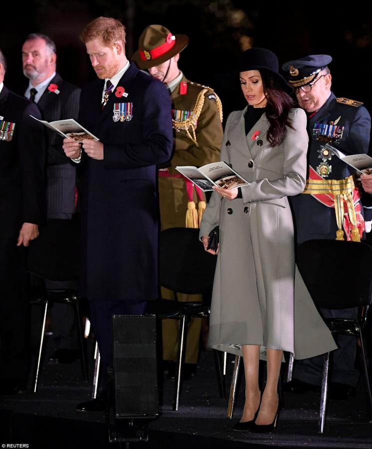 Члены королевской семьи на службе в Лондоне