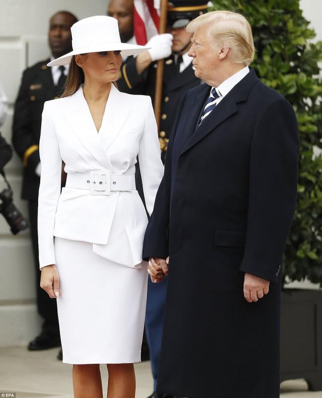 Супруги Макрон в гостях у Трампа