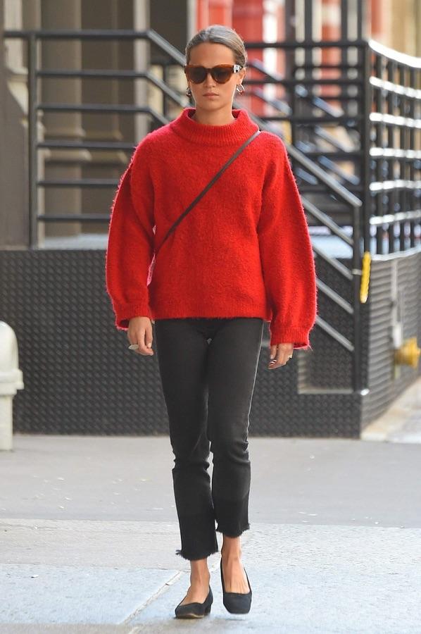 Уличный стиль Алисии Викандер Алисия, Викандер, прошлой, неделе, улицах, Манхэттена