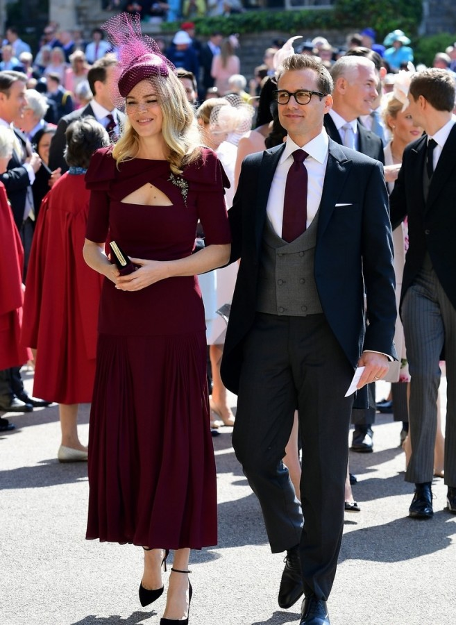 "The actors of the series ""Force Majeure"" at the royal wedding"