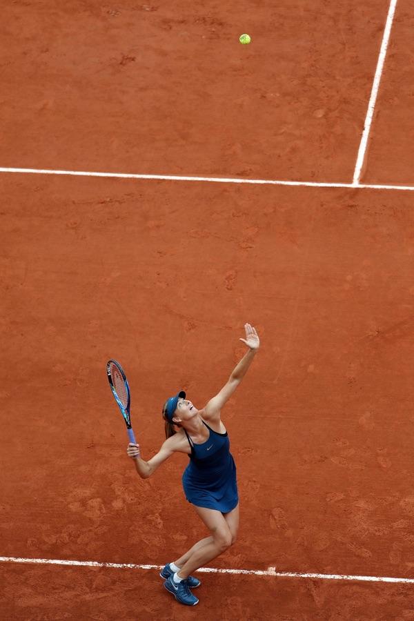 Мария Шарапова на турнире в Париже