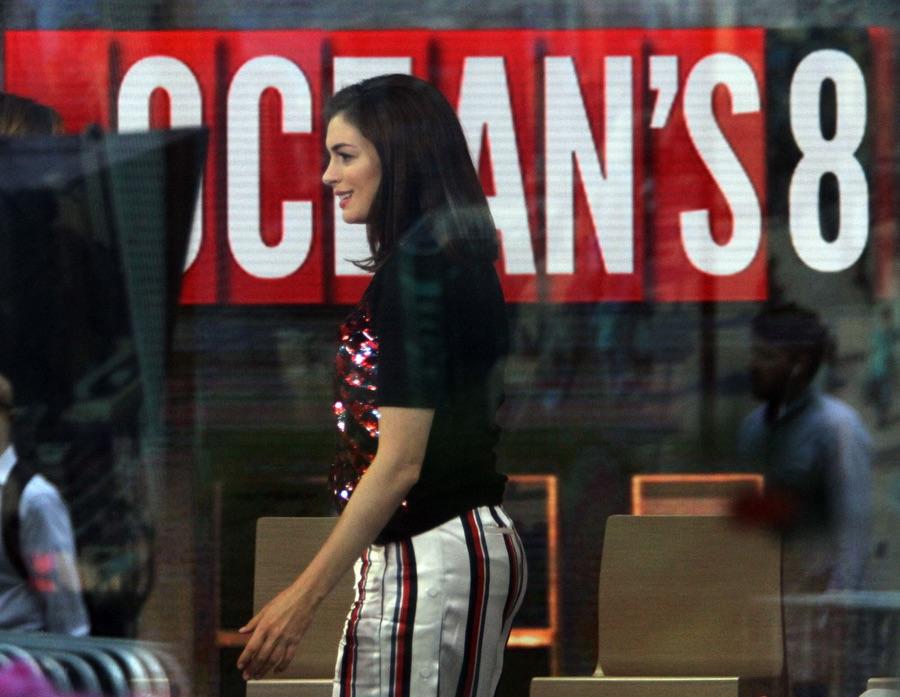 Энн Хэтэуэй на съемках в тв-шоу Хэтэуэй, четверг, время, съемок, твшоу, Today