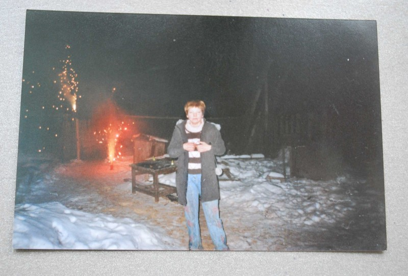 Вечер 31 декабря 2005 года. Скукожившийся шар виден в правом верхнем углу снимка.