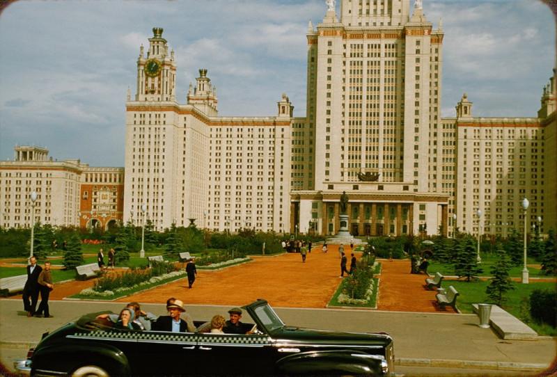 Москва, 1956 - скромное обаяние столицы. Фото: Гугл.