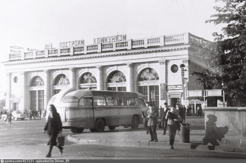 Минск, железнодорожный вокзал, середина 20 века. Нынче ни коммунизма, ни того вокзала, да... Фото: Гугл.