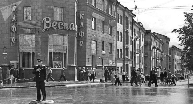 Минск послевоенный. Фото: Гугл.