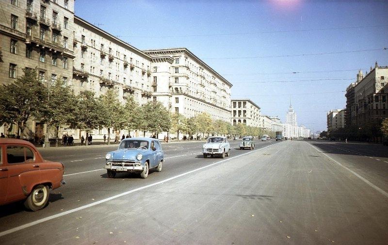 Москва, 50-е прошлого века. Фото: Гугл.