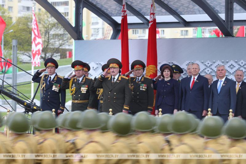 Белорусская головка на параде Победы в Минске 9 мая 2020 года. Фото: Наша ніва.