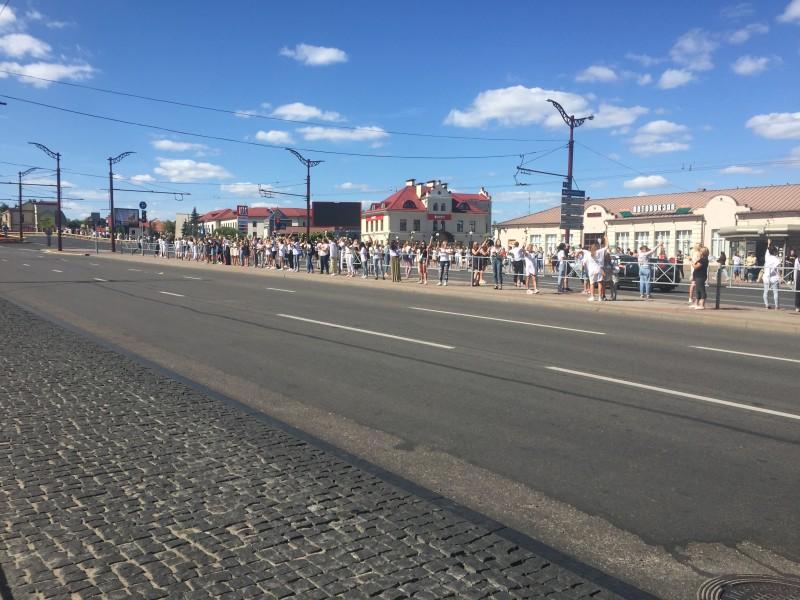 Самое начало женского протеста. Фото автора.