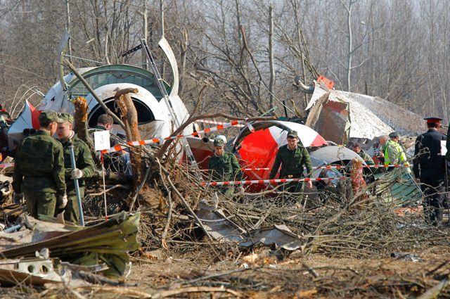 Польский Ту-154, рухнувший 10 апреля 2010 под Смоленском. Фото: Гугл.
