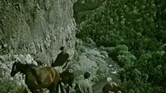 """Кадр из фильма """"Призраки покидают вершины""""."""