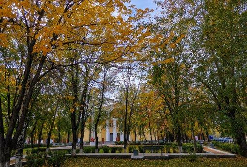 За деревьями — Дом культуры Железнодорожников в Серове. Фото: Гугл.