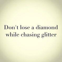 chasing glitter
