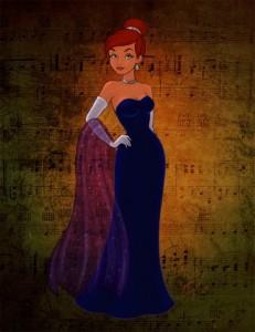 Девочка в голубом платье из мультика