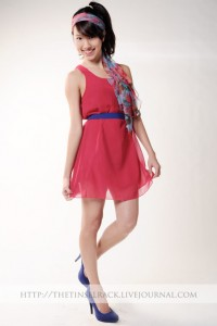 HHV chiffon tunic in hot pink