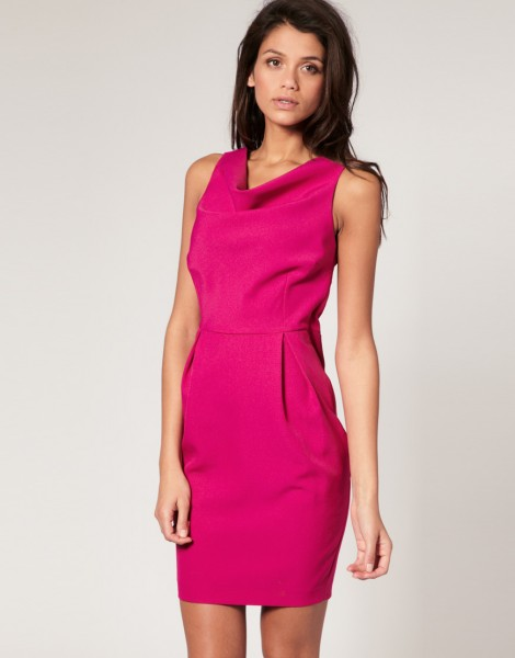 ASOS cowl front dress