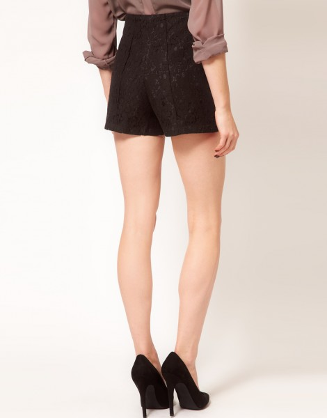 ASOS Tailored Shorts in Lace back