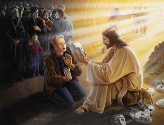 Иисус снимает маски