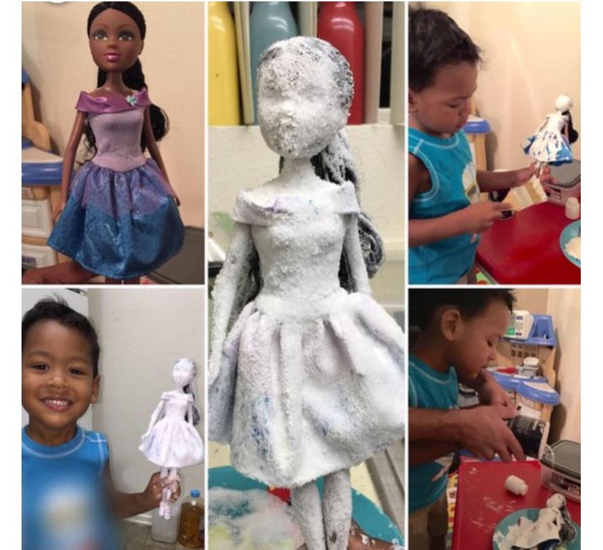 Скрин с куклой-столбом жены Лота (увеличен)