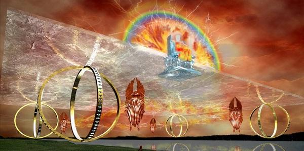 Колесница из видения Иезекииля в представлении ОСБ