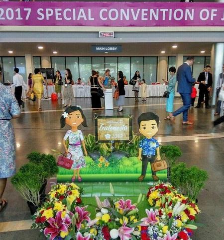 Коля и Соня на конгрессе в Индонезии