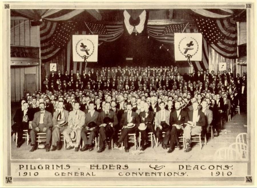 4_Из Сув Сборника 1910 Конгресс с американскими флагами