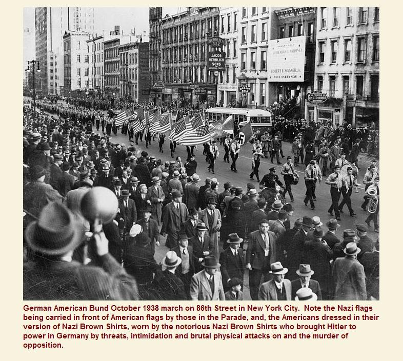 6_Нью-Йорк 1938 США и Германия - флаги, шествие