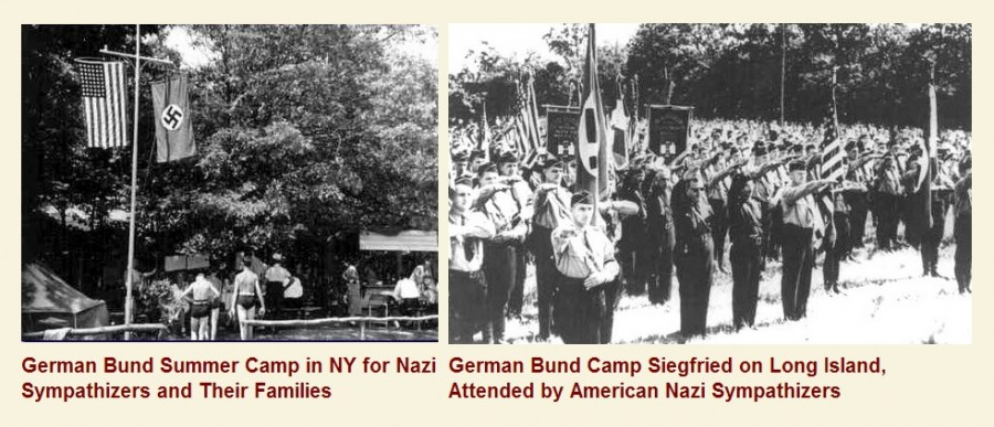 8_1938 США Германия, флаги, нацизм