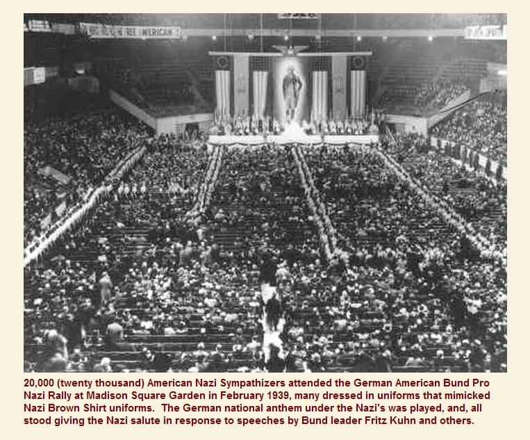 9_Съезд нацистов в США 1939 год (Флаги около из. Вашингтона)