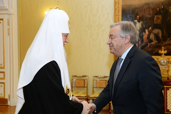 Патриарх РПЦ и генсек ООН Гуттереш_2